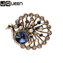 Antique Bronze Color 2017 Elegant Peacock Butterfly Colorful Rhinestone Brooch Pin 1 Piece For Women Wedding Pins And Brooches