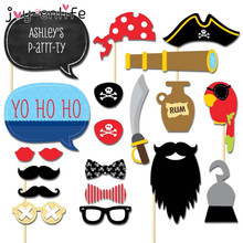 JOY-ENLIFE 20pcs Photo Booth Props Pirate Character Mask Novelty Mustache For  Funny Masquerade Party Favor Kid Festival Cosplay