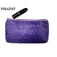 FHADST 2017 Women Multifunction Beauty Zipper Travel Cosmetic Bag Letter Makeup Bags PouchToiletry Organizer Holder Beautician(China)