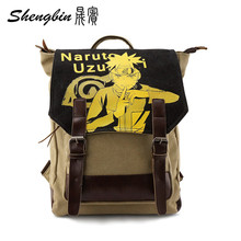 2016 Anime Manga Hokage Ninjia Naruto Backpack Canvas Children Schoolbags Men Canvas Anime Travel Double-breasted Bag 40*29*15cm