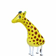 1pcs 91*39cm 3D Walking Giraffe Helium Balloon Animals Inflatable Balloon Kids Toys for Zoo Jungle Party Baby Shower Birthday(China)