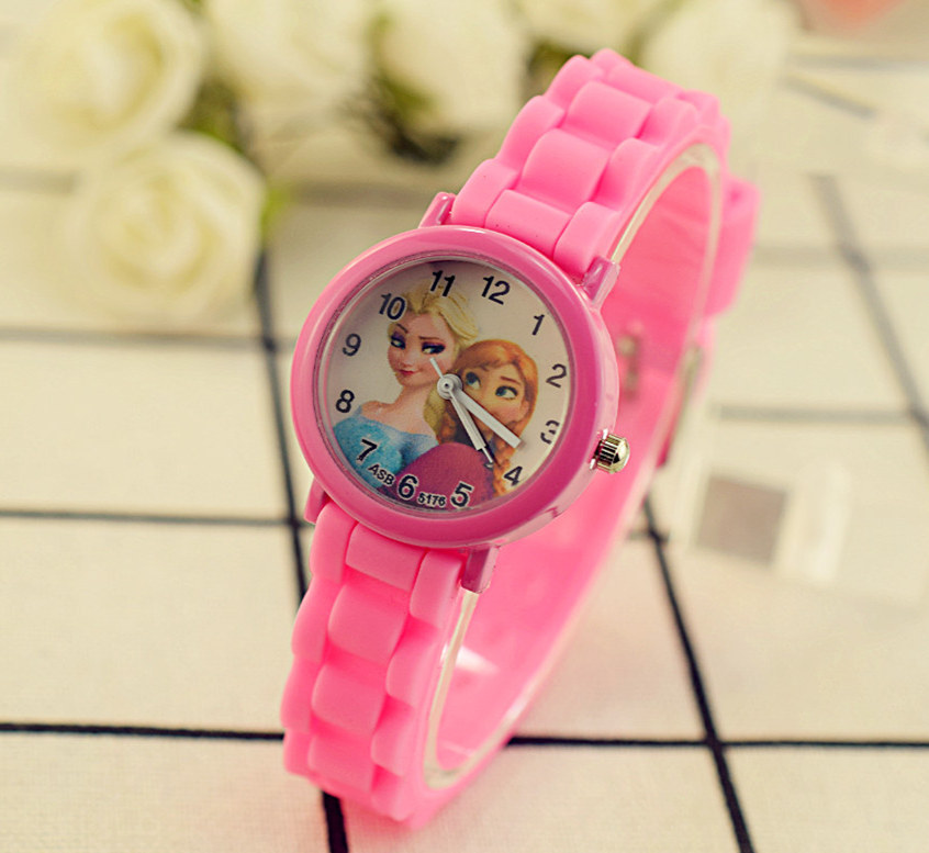 Silicone Watch Frozen Quartz Digital Student Children's Classic Cartoon with Jelly-Color title=