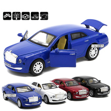 1:32 Bentley Mulsanne Diecast Car Model Toys With Pull Back Function/Music/Light For Children Toys As Gift Collection