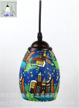 hot sale Chinese style ceramic hand made E27 pendent lights for dining room bar restaurant decoration lamp N1169