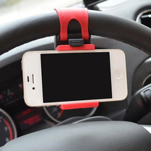2015 New Car Steering Wheel Mount Holder Rubber Band For iPhone iPod MP4 GPS Accessories 1NCO 57KC(China)
