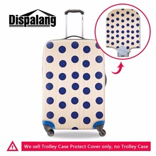 Dispalang Polka Dot Print Suitcase Elastic Dust Rain Cover Luggage Cover Travel Accessories Women Trolley Case Protective Covers(China)