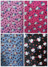 145cm*50cm Japanese Nylon Waterproof Hello Kitty Fabrics for Bag Talbecloth Patchwork Materials Cartoon Water Proof Fabric
