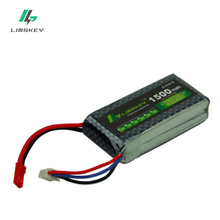 Limskey Power 2S Lipo Battery 7.4V 1500mah 25C Max 30C for RC Qudcopter Helicopter Airplane Car JST T Plug Toy Battery 2S 2PCS(China)