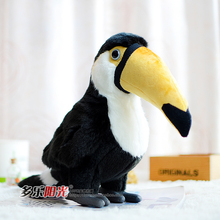 Free shipping Toucan Doll Stuffed Toy Simulation Wild Birds Hornbill plush toys for birthday gift  ramphastos toco toy
