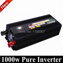 electric power inverter 10000W Peak Power 2000W Solar Inverter 1000W Pure Sine Wave DC 12V to AC 220V Car Auto Power Converter(China)