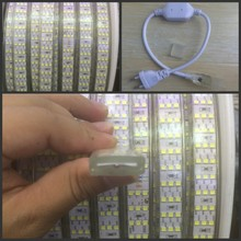 276Leds/m SMD 2835 LED Strip 220V 240V Waterproof  Three Row LED Tape Rope Light Warm White Home Decoration Lights New
