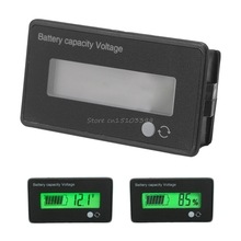 12V LCD Acid Lead Lithium Battery Capacity Indicator Voltmeter Voltage Tester Electronic Device Tools Drop Ship
