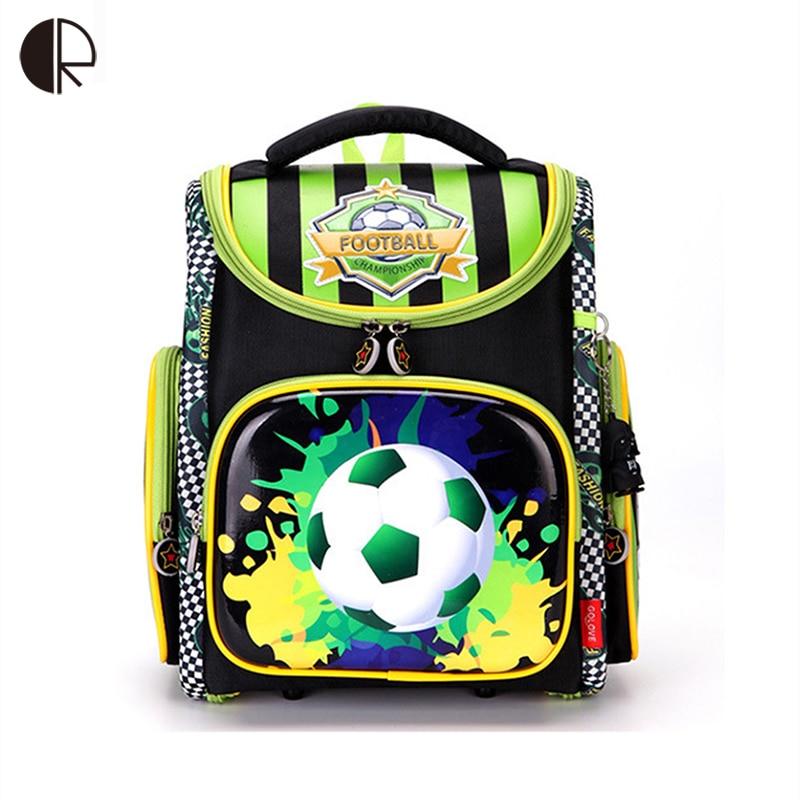 2018 Russia World Cup Backpack for Boys School Orthopedic Backpack Racing Schoolbag Football Children Backpack Mochila escola<br>