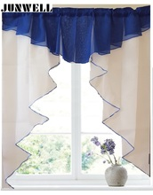 11 colors Fashion Pleated Roman Curtain Design Stitching Colors Tulle Balcony Kitchen Window Curtain Blind 1pc(China)