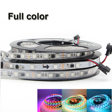 DC 5V 12V WS2811 WS2812B WS2812 IC SMD 5050 digital RGB Strip waterproof Dream Magic Full color Led Strip 30LED/m 60led/m