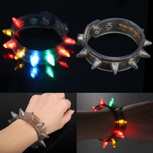 Glow Funny Flash Bracelet Fluorescent Color Changing For Party LED Eight Lamp High Quality(China)