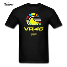 VR 46 Rossi Tshirts Men Cotton Summer Print Moto Gp T-shirt Rossi 46 Man Plus Size Tee Shirts For Male XS-XXXL T-Shirt Clothing(China)