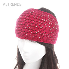 [AETRENDS] Women Girl Knitted Headband Winter Warm Headwear Crochet Head Wrap Ear Warmer Hair Accessories Q3321