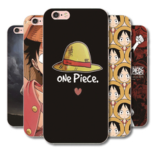 One Piece Monkey D Luffy pattern Plastic phone case For iphone 8 6 6S 7 Plus 7Plus 4G 4S 5G 5S SE 5C transparent cover