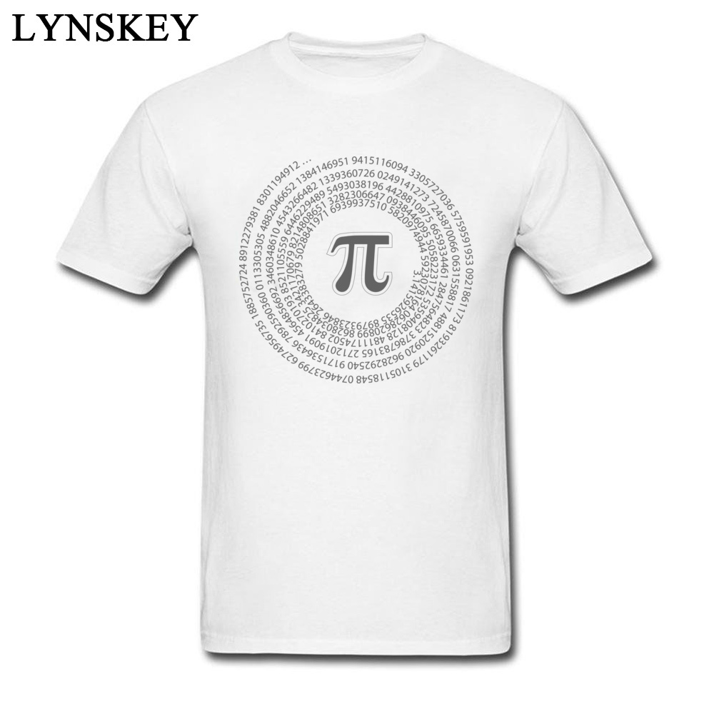 Group Tops T Shirt Funny Round Collar Short Sleeve Pi day vortex mathematical constant 100% Cotton Men T-shirts Casual Summer Tee-Shirt Pi day vortex mathematical constant white