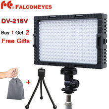 Falcon Eyes 216 LED Video Light Lamp Dimmable for illuminating Photographing or Filming DV-216V DV-216VC for Canon Nikon Cameras