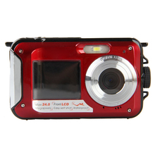 "24 Megapixel Waterproof Dual Screen Digital Camera 2 Screens Waterproof to 10 Metres 2.7"" Screen with 16GB Micro SD Card"