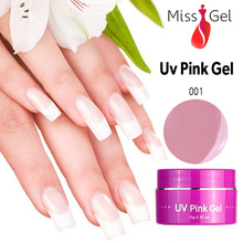New Missgel 3pcs Mix UV Pink Builder Gel,New Suppliers New Nail Gel Choice(China)