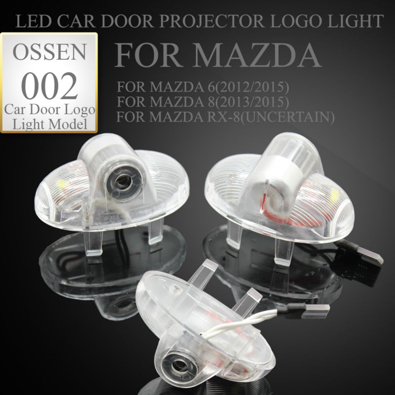 Special LED car door projector logo laser shadow welcome Warning light for Mazda 8 Mazda 6 Mazda RX8 RX81