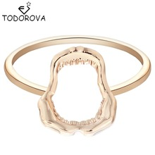 Todorova Mini Shark Jawbone Gold Silver Fashion Best Friend Rings Engagement Ring for Women Fashion Jewelry Alibaba Retail Store