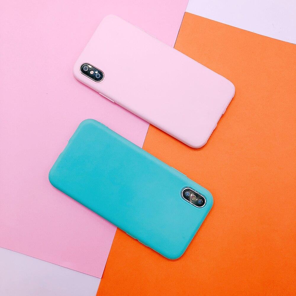 For huawei P20 plus lite P10 P9 lite plus P smart Candy Color soft TPU Case on mate 9 10 pro Nova 2 plus 3e Y9 2018 cover funda (6)