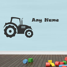 Personalised nursery Tractor Vinyl Wall Sticker mural Any Name Art Decal Customized Gift kids bedroom decor free ship