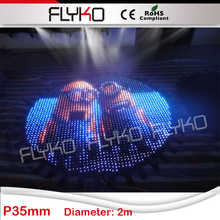 Flyko Cartoon video display semi-outdoor great show P3.5cm round shape wonderful led video curtain(China)