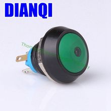 12mm Metal Waterproof Zn-al Alloy Push Button Switch domed Momentary self reset 1NO Car press button car 12QX1D/HJ,F.K-GR