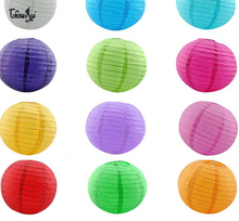 mulit color option 4 inch 10cm Round Chinese Paper Lantern Birthday Wedding Party decor gift craft DIY creavtive good quality(China)