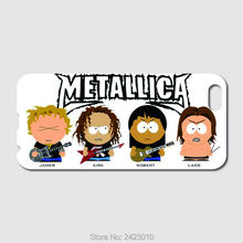 High Quality Cell phone case For iPhone 6 6S 7 Plus SE 5 5S 5C 4 4S iPod Touch 6 5 4 metallica south park humor Patterned Cover