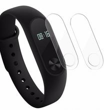 2Pcs Hot For Xiaomi mi Band 2 Screen Protector TPU Glass Film for Xiaomi mi 2 Watch Band  37x12mm