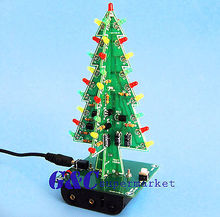Chrimas Trees LED DIY Kit Professional Red Green Flash LED Circui