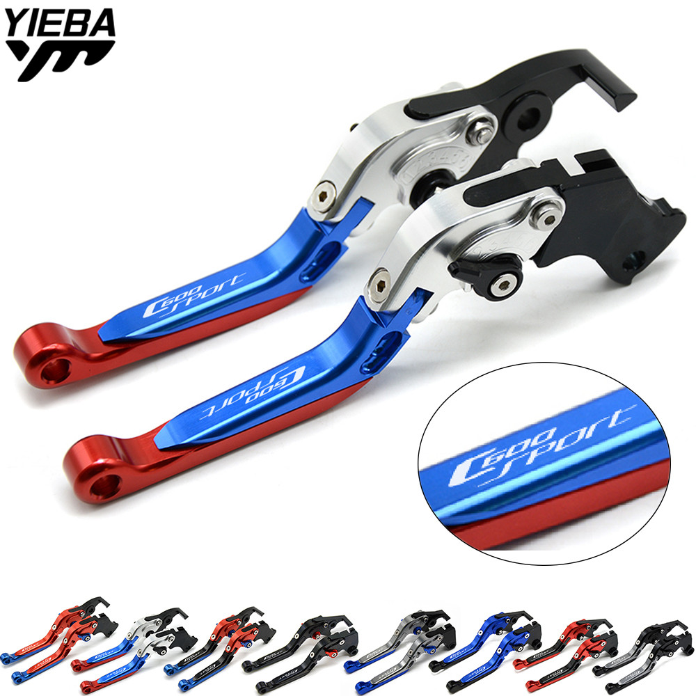 Motorcycle Adjustable Brake Clutch Levers Handle FOR BMW C600Sport C600 SPORT C 600 Sport 2011 2012 2013 2014 2015 with logo