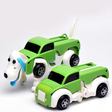 Diecast Toy Cars Models Dog Flexible Magic Dog Car Toys For Boys Diecast Vehicles Construction Plastic Robot Spring Cars Red(China)