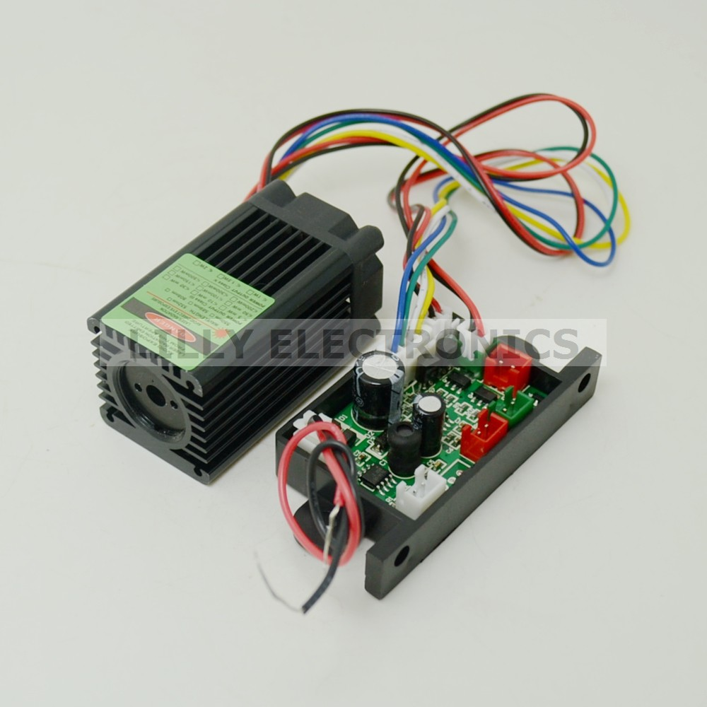 12V 532nm 100mw Green Laser Dot Module Fan Cooling TTL 0-30KHZ-Long time working<br>