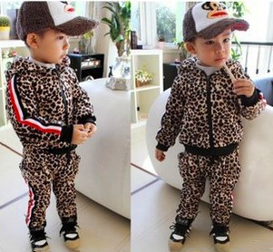 Anlencool Free shipping autumn winter Korean version color of Leopard  Set of childrens clothing baby clothing baby boy set<br><br>Aliexpress