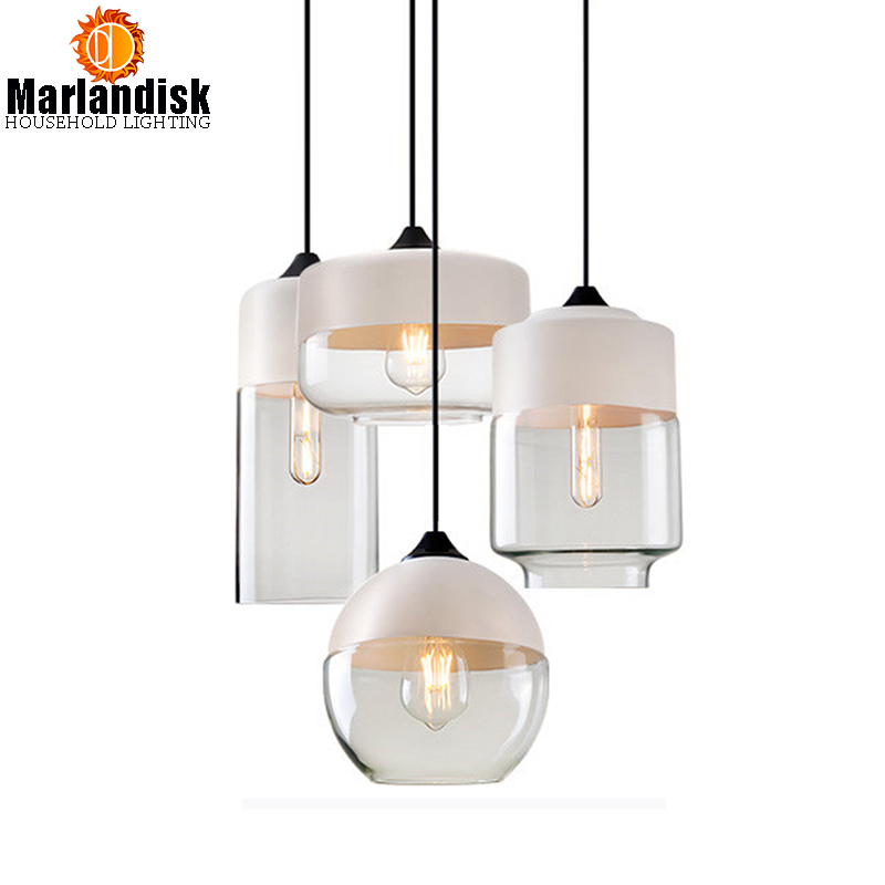 New Style Modern Contemporary Hanging Glass Shade Pendant Lamp Light Fixtures e27/e26 For Living Room Kitchen Restaurant Bedroom<br>