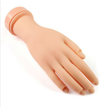 1pcs Pro Practice Nail Art Hand Soft Training Display Model Hands Flexible Silicone Prosthetic Personal Salon Manicure Tools Hot