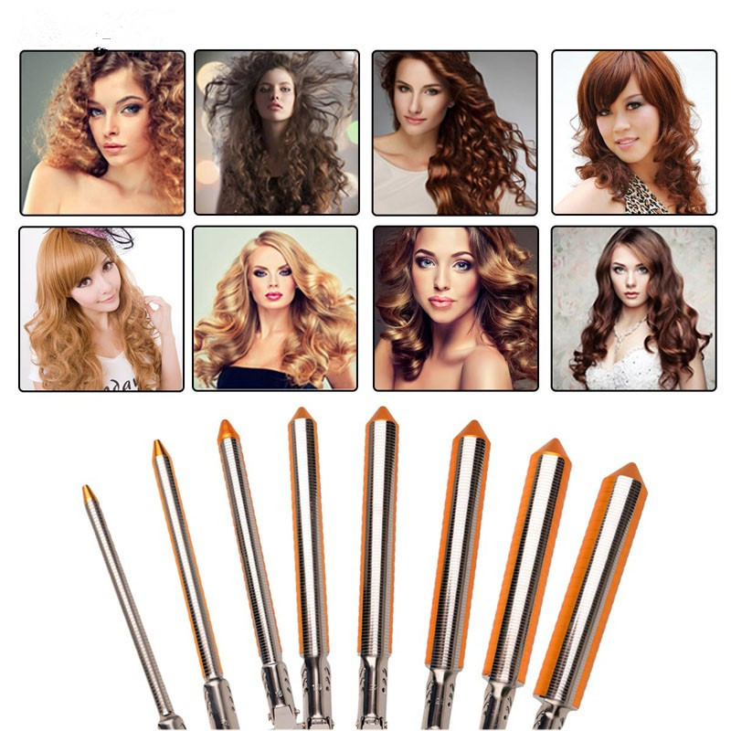 Deep Curly Hair Styler Curls Ceramic Curling Iron Wave Machine Pro Spiral Hair Curlers Rollers Curling Wand<br>