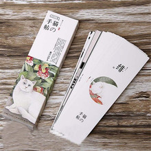 30pcs/lot Cute Kawaii Japanese Style Paper Bookmark Lovely Cat Book Marks For Book School Materials Free Shipping 2905