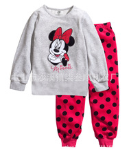 Retail New Arrive Children Baby Girl's Kids Long Sleeve Pajamas Sets Minnie Elsa Anna Girls Sleepwear Homewear Pyjamas Suits