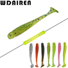 10Pcs/lot 0.7g 5cm Worm Soft Lures Fishing Pesca Fish Peche Wobblers Tackle Leurre Souple Isca Artificial Soft Baits Carp
