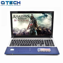 Gaming Laptop i7 8GB RAM SSD 128GB 256GB 15.6inch Windows Large Notebook PC DVD Metal i5 Azerty German Spanish Russian Keyboard