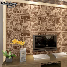beibehang English letters waterproof scrubable men and women clothing store bar stand wallpaper personality background wallpaper