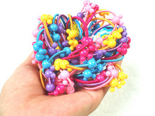 25 pcs/lot High Quality Carton Round Ball Kids Elastic Hair bands Elastic Colors Hair Tie Children Rubber Hair Band for Kids
